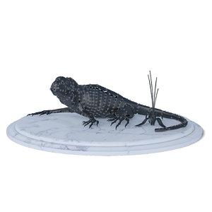 3d iron lizard model