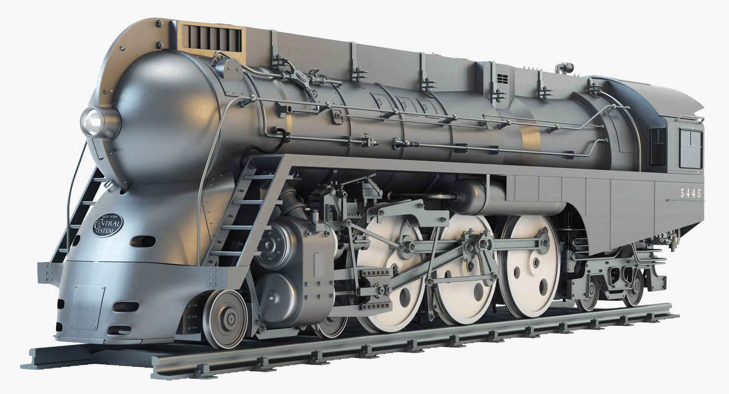 dreyfuss hudson steam locomotive 3d model