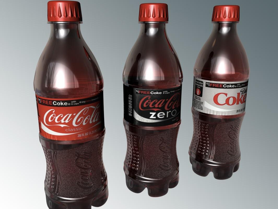 coke bottle 3d model