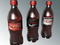 coke bottle 3d model