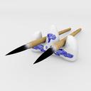 calligraphy set 3D models