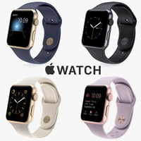 3d model apple iwatch watch