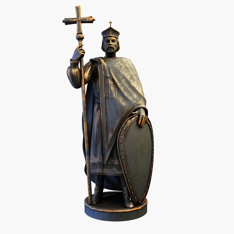 statue crusader 3d 3ds