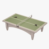 3d model table tennis
