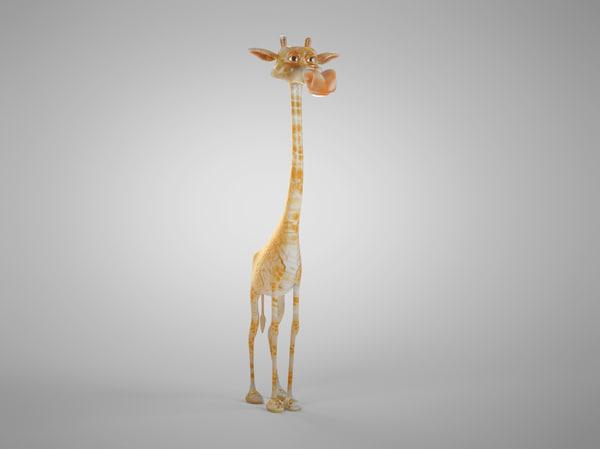 giraffe cartoon 3d model