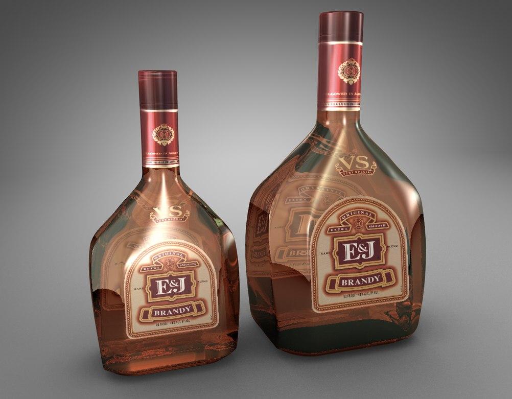 bottles e j brandy dxf