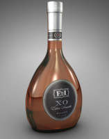 bottle e j brandy 3d 3ds