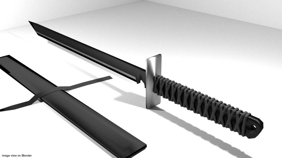 3d ninja sword