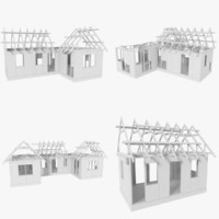 3d fbx pack timber frame construction