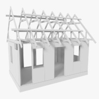 timber frame building construction 3d x