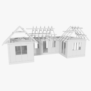 timber frame building construction obj