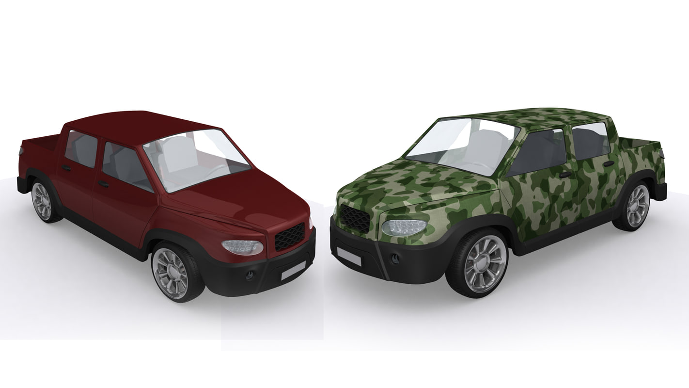 3d pickup pick-up truck model