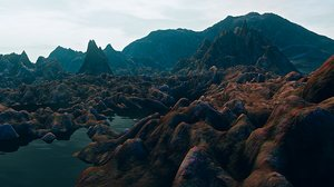 mountains atmosphere 3d model