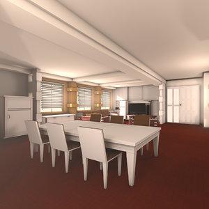 3d c4d designs living grandeur room interior