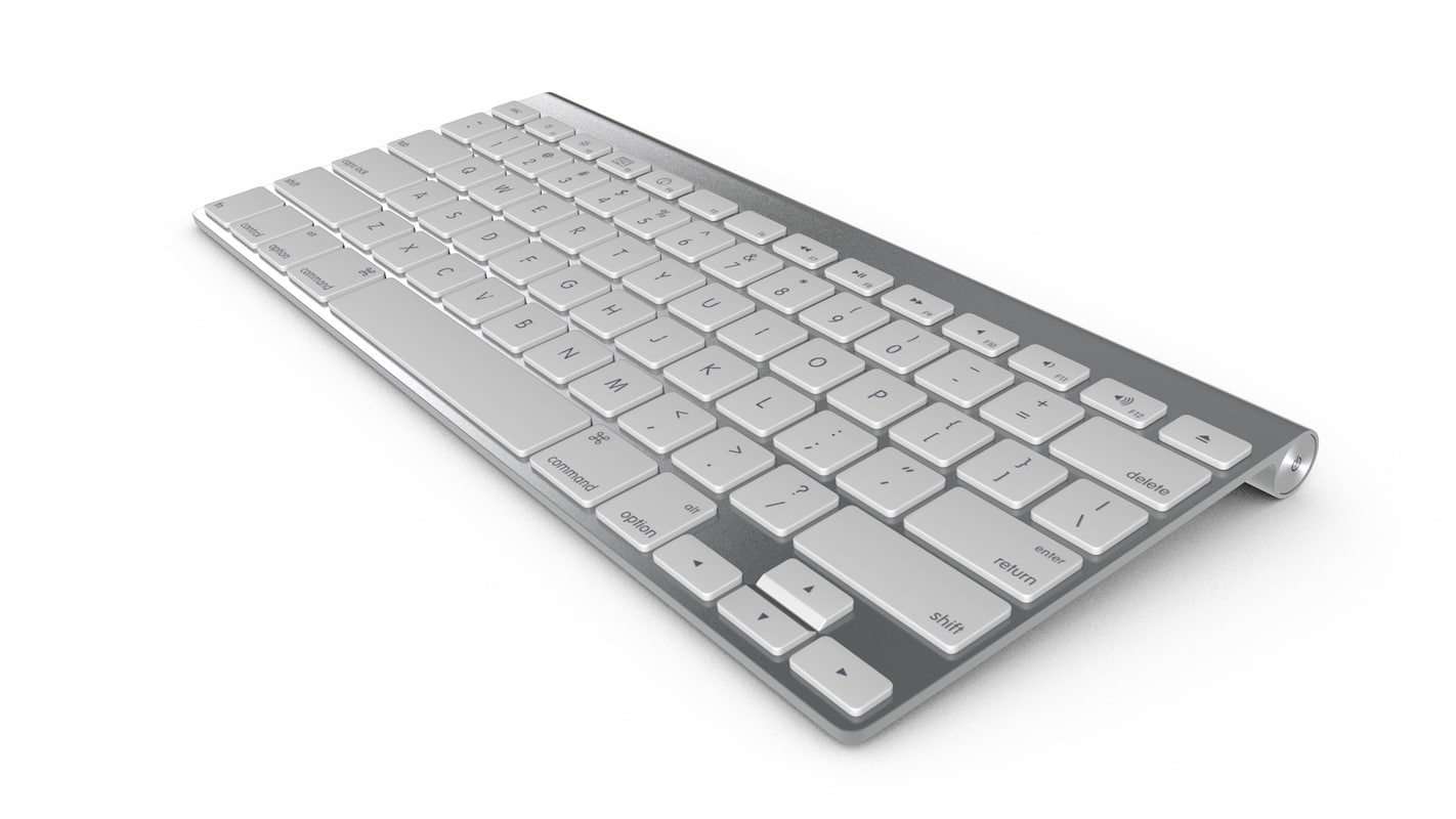 wireless keyboard 3d model