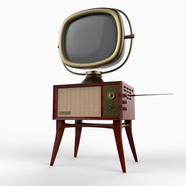 3d model of philco tandem predicta tv set