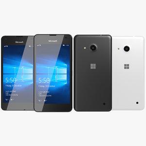 realistic microsoft lumia 550 3d max