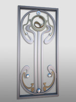 decorative secession railing fences 3d obj