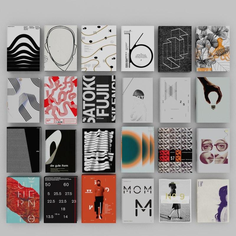3d books design graphic