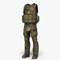 3d qualitative soldier cloth set