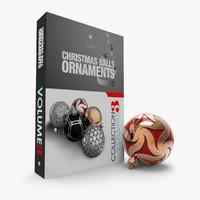 3ds max design christmas balls ornaments