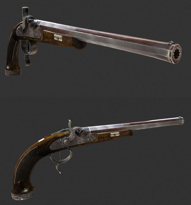3d old musket model