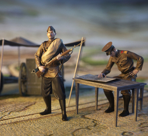3ds max soldiers ww1