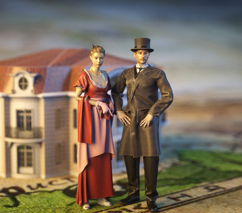 3d aristocratie couple model