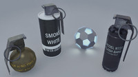grenades pack 3d x