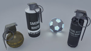 grenades pack 3d x