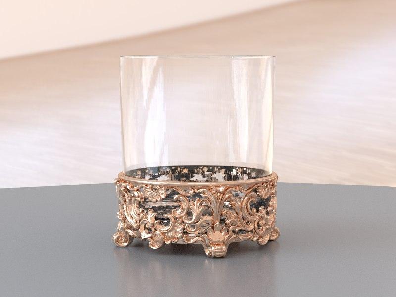 obj whiskey glass holder