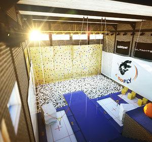 trampoline gym octane 3d max