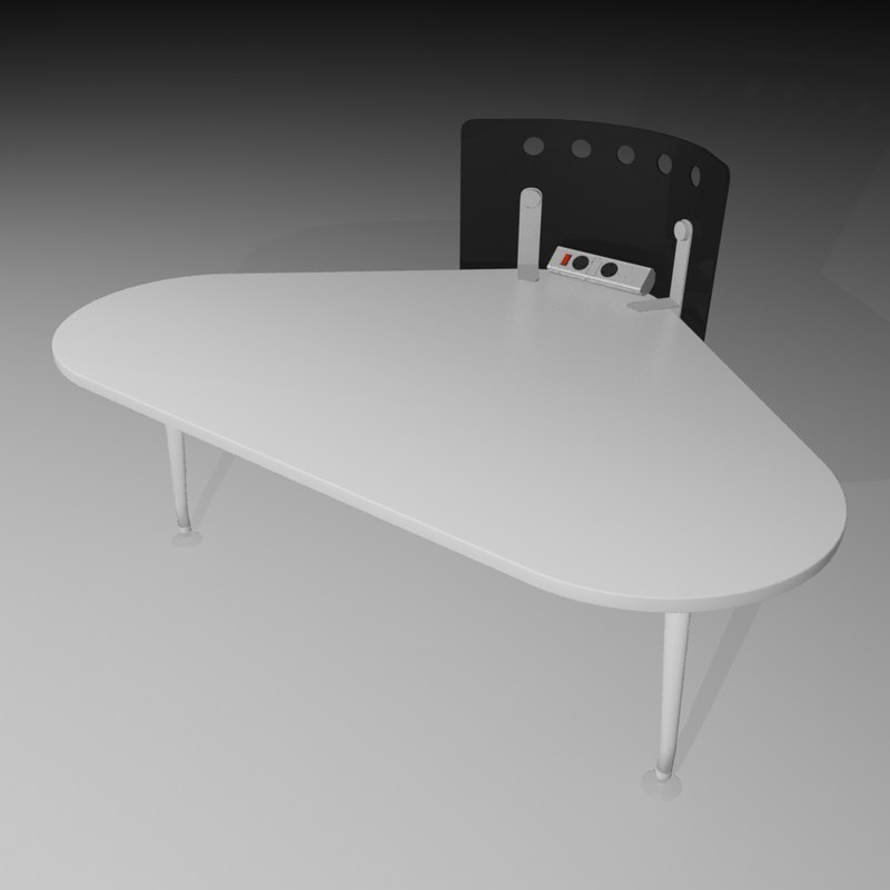 3d model of office desk