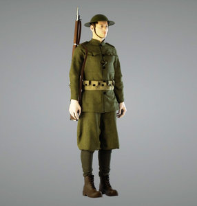 british soldier ww1 3d model