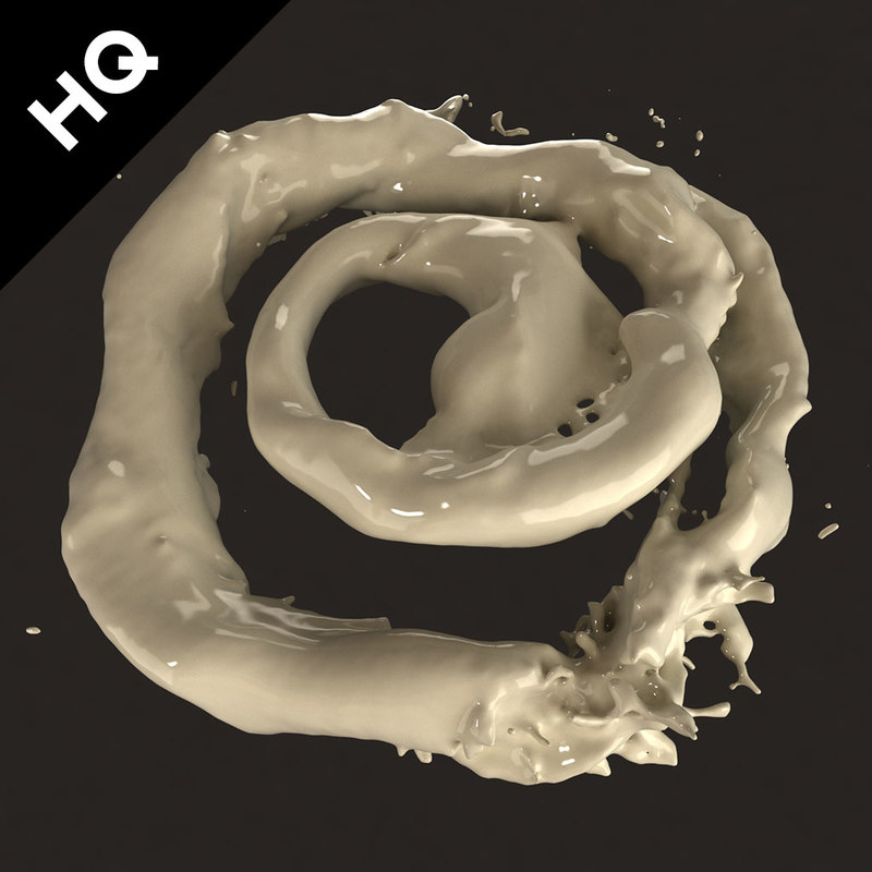 flow milk water 3d max