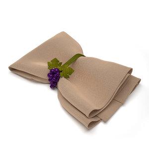 3d model napkin