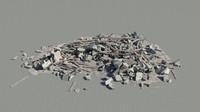 3d heap debris piles