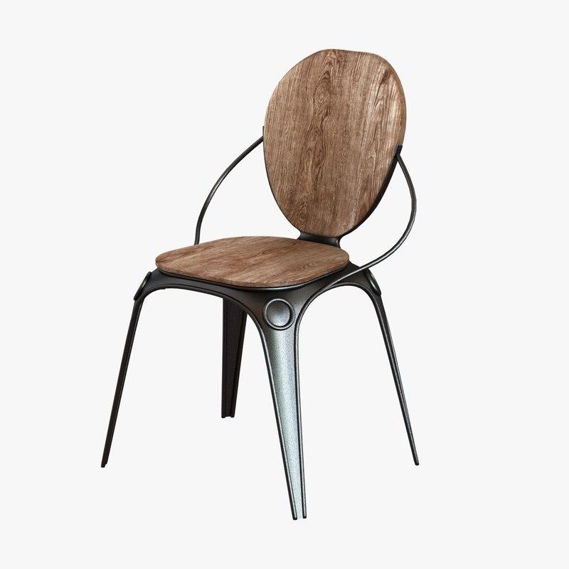 chair louix zuiver black 3d 3ds