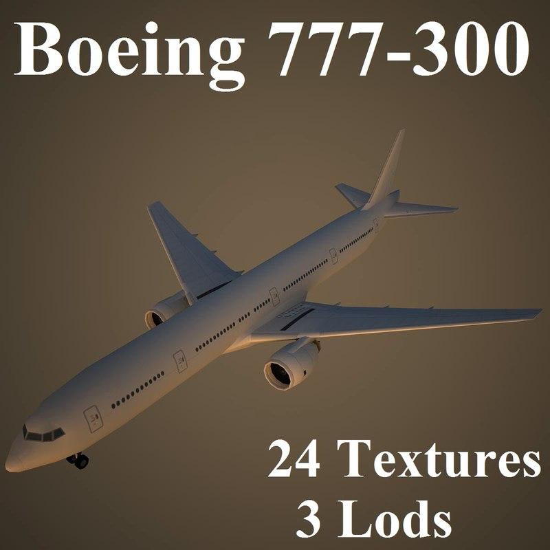 3d max boeing 777-300