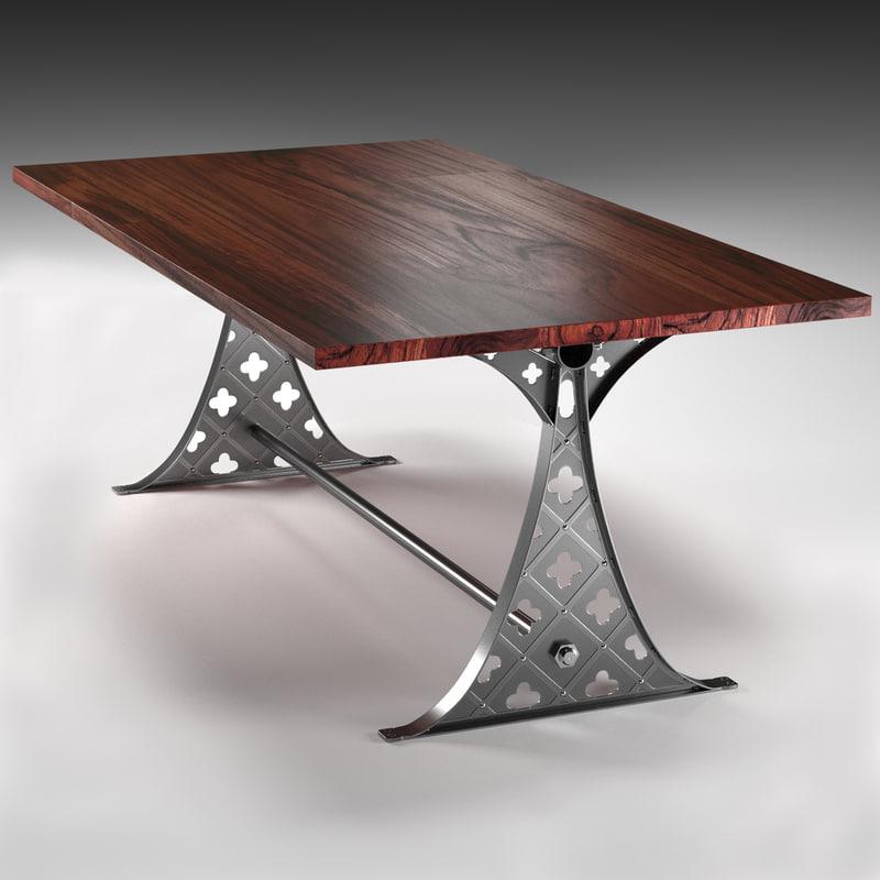 quatre dining table industrial max