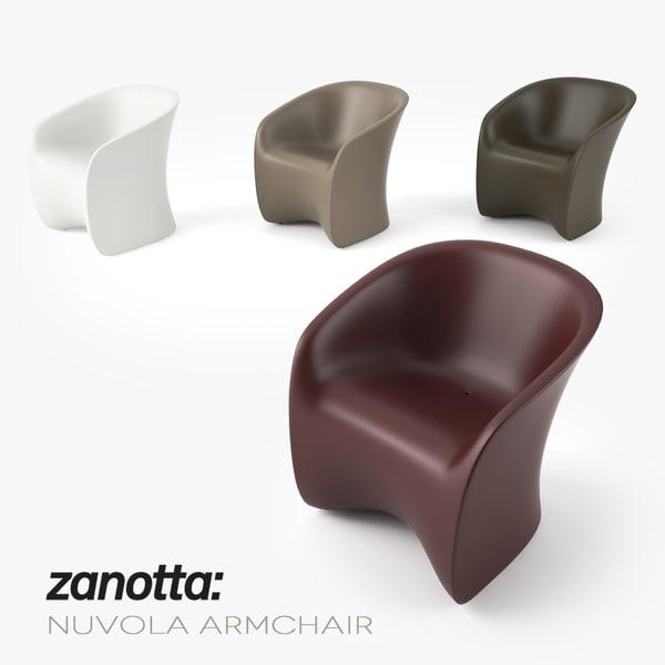 3d model zanotta nuvola armchair