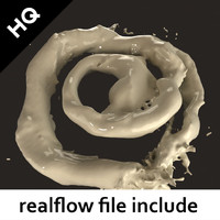 3d model of flow realflow milk