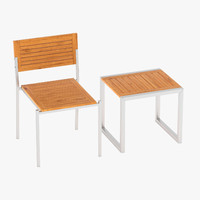 3d model veranda furniture pack chair
