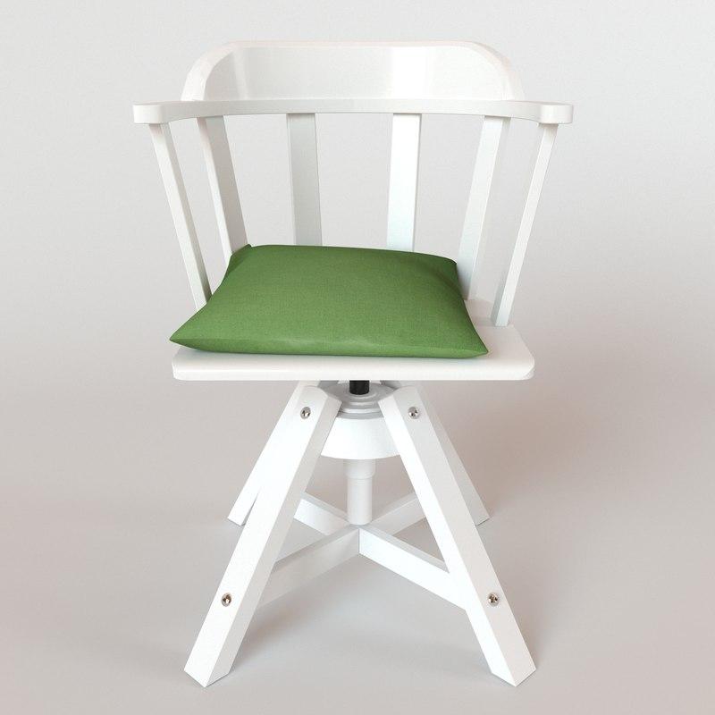 3d model ikea feodor swivel chair