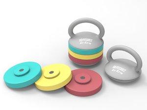 adjustable kettlebell 2 5-5 3d max