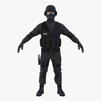 3d model swat man mediterranean