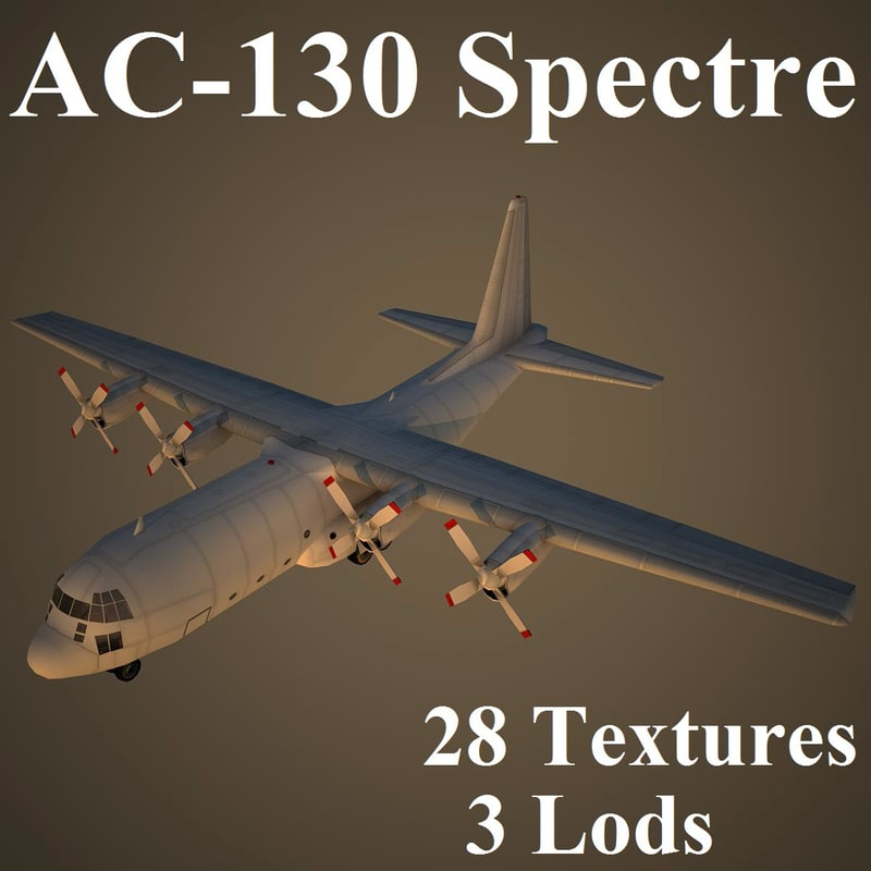 ac-130 spectre 3d model