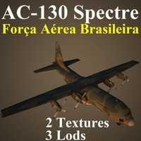 ac-130 spectre fab 3d max