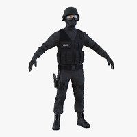swat man asian 3d 3ds