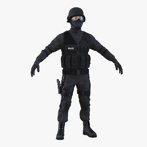 swat man asian 3d 3ds